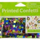 Happy Birthday Mod Circles Printed Confetti