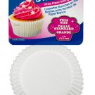 SweetBake Full Size White Paper Baking Cups