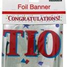 Congratulations Foil Party Banner