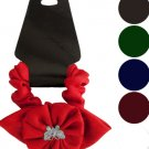 Butterfly Ruffle Flower Bow Accent Hair Twister