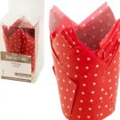 Red & White Polka Dot Paper Baking Cups