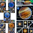 Planetary Laser Stickers