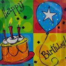 8 pack 10 x 10 in. cake celebration birthday plates