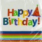 24 pk 12 7/8 x 12 3/4 in. party stripes birthday napkins