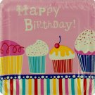 12 pack 9 1/8 in. yummy cupcake birthday plates