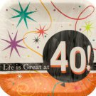 Life is Great at 40 Square Luncheon Plates Set