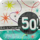 Life is Great at 50 Square Luncheon Plates Set