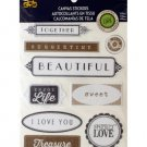 Colorable Family Love Canvas Stickers