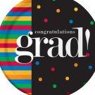 Grad U Made It Round Plates Set