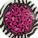 Pink Animal Print Birthday Plates