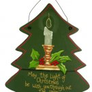 Hanging Wooden Christmas Tree Plaque