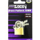 20 MM brass Padlock with keys
