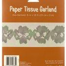 Silver Paper Tissue Garland