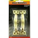 Plated brass door handles, pack of 2