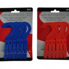 Hang and dry clothes pins, pack of 6