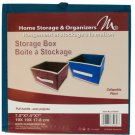 Small Collapsible Fabric Storage Box with Pull Handle