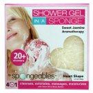 Spongeables Sweet Jasmine 4-in-1 Heart Shape Shower Sponge