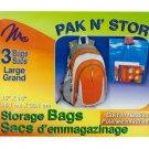 3 pack 15 x 15 storage bags