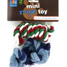 2 Pack miniature rope dog toys (assorted colors)