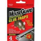 Disposable mouse traps, 4 piece