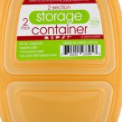 2-Section Food Storage Container Set