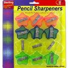 Star-shaped pencil sharpener set
