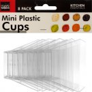 Clear Mini Plastic Condiment Cups Set