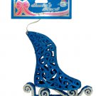 Christmas 3D Blue Ice Skate Hanging Ornament