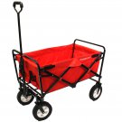 Small Utility Folding Wagon with Removable Polyester Bag