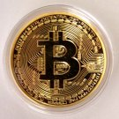 Fine BTC Bitcoin 24k Gold Plated Commemorative Round Collectible Coin 1oz