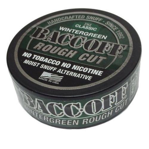 BACCOFF Snuff Wintergreen Mountain Tobacco & Nicotine Free Rough