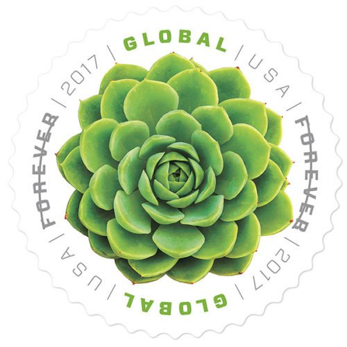 USPS 20 Global Green Succulent USA First Class Postage Forever Stamps Booklet