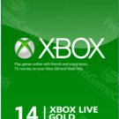 XBOX Live 14 Day Gold Membership Gift  Code 2 weeks Card