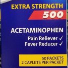PANADOL Acetaminophen 500 mg Extra Strength 250/2 Caplets 500 ct Pain Reliever