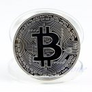 HOT Silver Plated Bitcoin Coin Collectible BTC Coin Collection Physical Gift