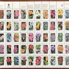 USPS SHEET of Wildflowers First Class SC#2647-2696 Postage Stamps Booklet Mint NH 1992