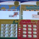 4 SETS CHINESE LUNAR NEW YEAR AMERICAN STAMPS FIRST ISSUES USPS
