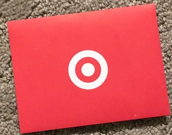TARGET Gift Card red paper SLEEVE Envelope Lot of 5