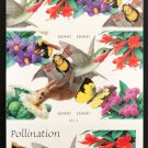 """USPS SHEET of U.S. 2007 Booklet #4153-56, """"Pollination,"""" 20 x 41 cent stamps, MNH Very Fine"""
