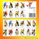 USPS SHEET of 20 Songbirds Forever Stamps Bluebird Lark Finch Oriole Sparrow Tanager Song Bird