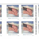 USPS SHEET of Books Of Postage Forever Stamps Flags