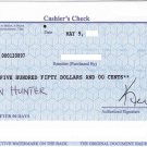 Bank of America Casher Check $50 - Directly from Local BOA Branch