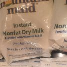 3 BAGS MOUNTAIN MAID INSTANT NONFAT DRY MILK