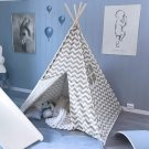 Tent for Kids, Children Play Tent for Indoor & Outdoor, 5' Chevron Cotton Canvas
