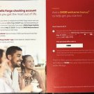WELLS FARGO Bank CHECKING Saving $400 check card Coupon code BONUS Gift