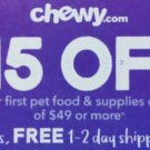 FASTEST CODE! CHEWY: $15 OFF First Order of $49 Chewy.com Exp. Coupon code BONUS Gift