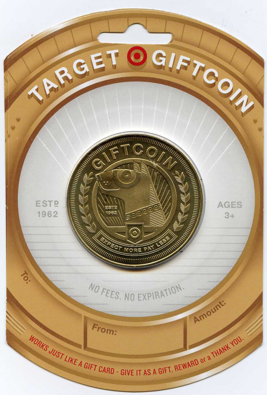 FIVE (5) TARGET GOLD COIN SPECIAL LIMITED EDTION GIFT CARD SOLD OUT in store