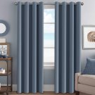 Premium Blackout Thermal Insulated Darkening Curtains - Grommet Top (Set of 2 Panels multi color)