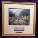 THOMAS KINKADE HOMETOWN MEMORIES Print Framed Matted With COA
