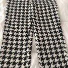 NEW Women's Geometric Print Pajama Pants Sz 2X 18W/20W White/Black Snuggly Soft